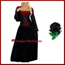 Gothic Medieval Vampire Vampiress Witch Fancy Dress Gown Costume - L 14-16 Photo