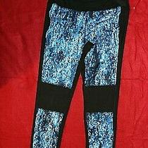 Gottex Black With Blue Print Yoga/workout Pants Size M/89  Retail 78 Photo