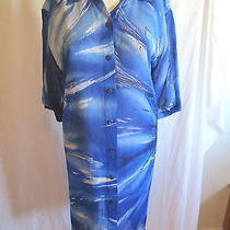 Gottex Blue Shirt Style Swimsuit Cover Up - M Photo