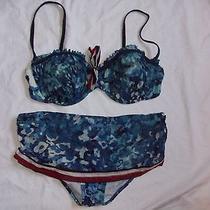 Gottex Cute Bikini Swim Suit With  Skirted Bottoms Size  12 Cute Photo