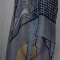 Gottex Gray White Silk  Wrap Sarong  Wrap S Photo