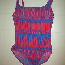 Gottex Multicolor 1 Piece Tank Style Swimsuit Sz 12 Nwt Photo