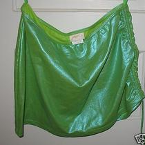 Gottex Neon Green Swimsuit Bikini Cover Up Skirt Size Medium M Cover-Up Photo