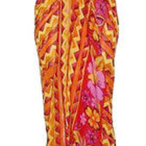 Gottex Oranges Geometric Full Swimsuit Wrap Sarong Pareo Cover-Up One Size New Photo