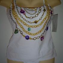 Gottex Pandora's Box Tankini Swimsuit White   Sz 8  Nwt Photo