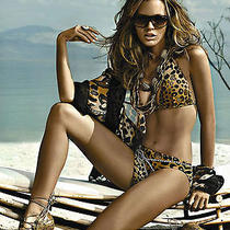 Gottex Womens 8 D Cup Leopard Bikini Swimsuit Nwt Wildlife Brown Black 2 Piece Photo