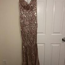Gown Dresses Size S Sequin Rose Gold Photo