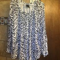 Grace Element Xxl Long Sleeve Zebra Print Blouse With Pockets Adorable Photo