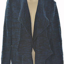 Grace Elements 1401 Size Xl Womens New Blue Black Tweed Blazer Jacket Draped 80 Photo