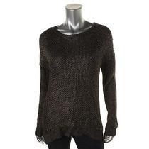 Grace Elements 1739 Womens Black Metallic Marled Pullover Sweater Top M Bhfo Photo