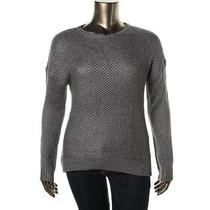 Grace Elements 1900 Womens Silver Open Stitch Pullover Sweater Top Xs Bhfo Photo