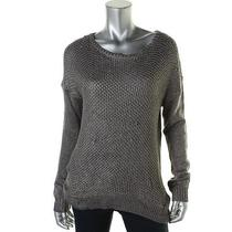 Grace Elements 5459 Womens Silver Open Stitch Hi-Low Pullover Sweater Top L Bhfo Photo