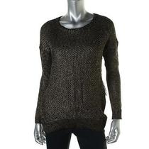 Grace Elements 5873 Womens Black Open Stitch Hi-Low Pullover Sweater Top S Bhfo Photo