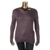 Grace Elements 6166 Womens Purple Open Stitch Pullover Sweater Top Xl Bhfo Photo