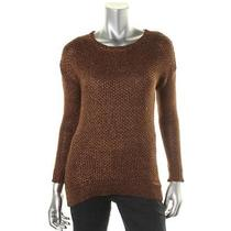Grace Elements 7018 Womens Brown Metallic Marled Pullover Sweater Top M Bhfo Photo