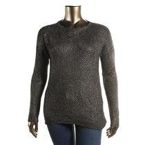 Grace Elements 7328 Womens Black Open Stitch Hi-Low Pullover Sweater Top Xl Bhfo Photo