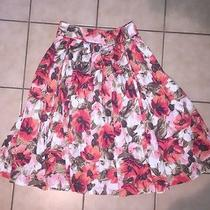 Grace Elements a Line Twirl Skirt Womens 4 Beautiful Floral Skirt Photo