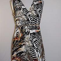 Grace Elements Animal Print Stretch Knit Dress Medium Photo