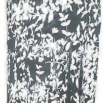 Grace Elements Black & White Print Shredded Lined Skirt Size 14 Photo