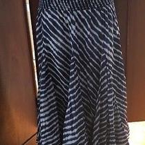 Grace Elements Blue Boho Tie Dye Style Full Long Skirt Womens S Photo