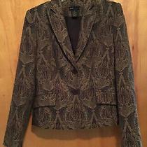 Grace Elements Brown/gold Paisley Blazer Size 4 Photo