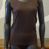 Grace Elements Brown Scoop Neck Sweater Shell Vest - New Nwt Small Photo
