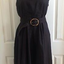 Grace Elements Dress Cowl Neck Belted Fit Flare Unlined Brown 12 Nwt  Photo