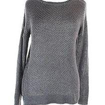 Grace Elements Gray Silver Metallic Women's Scoop Neck Sweater 70 Size Small Photo