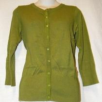Grace Elements Green Snap Closure Sweater Women's Size S Photo
