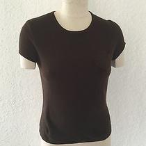 Grace Elements Knit Blouse Sz Medium Short Sleeves Acrylic Brown Photo
