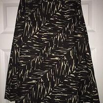Grace Elements Ladies 100% Cotton Lined a-Line Skirt Size 6 -Animal Print-Great Photo