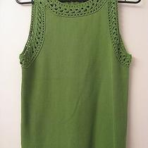 Grace Elements Large Top Sleeveless Crocheted Trim Ribbed Stretch   Photo