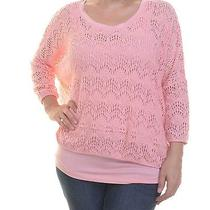 Grace Elements Layered-Look Crochet Sweater Size L Photo