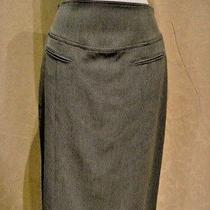 Grace Elements Macy's 6 S M New Nwt 58 Heather Gray 2 Way Stretch Career Skirt Photo