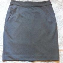 Grace Elements Macy's Womens Gray Stretch Pencil Skirt Knee Length Size 10 Photo