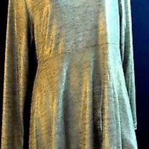 Grace Elements Metallic Gold  Assemetrical Tunic Top Extra Large Photo