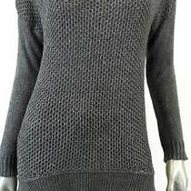 Grace Elements Misses Womens Knit Tunic Sweater Sz Xl Gray Solid Sale Designer Photo
