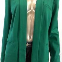 Grace Elements Misses Womens Pleated Blazer Sz L Ultramarine Green Solid Sale Us Photo