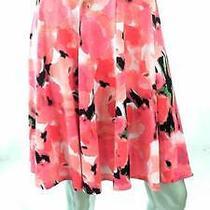 Grace Elements Misses Womens Stretch a-Line Above Knee Skirt Sz L Pink Tie Dye Photo