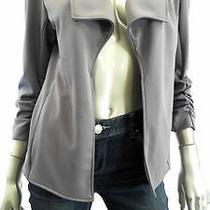 Grace Elements Misses Womens Stretch Blazer Sz S Steel Gray Solid Sale Designer Photo