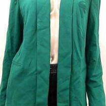 Grace Elements Misses Womens Stretch Blazer Sz Xl Marine Green Solid Sale Us Photo