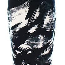 Grace Elements New Black Women's Size Xs Straight Pencil Printed Skirt 50 331 Photo