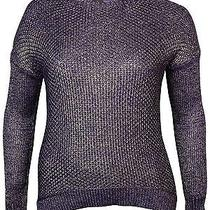 Grace Elements New Purple Gold Women's Size Xl Scoop Neck Sweater 70 075- Photo