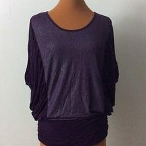 Grace Elements New Purple Kimono Sleeve Top Size Large Photo