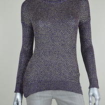 Grace Elements New Violet Metallic Hi-Low Pullover Sweater Top Msrp 70 Size S Photo