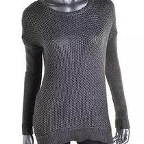 Grace Elements New Womens Xs S Silver Metallic Boatneck Pullover Top Sweater Photo