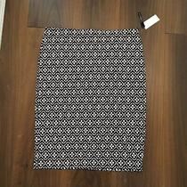 Grace Elements Nwt Black White Geometric Print Pencil Stretch Skirt Size Xl Photo