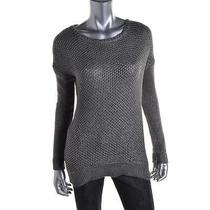 Grace Elements Nwt Women's Silver Metallic Pullover Sweater Top M Photo