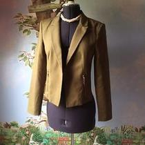Grace Elements Olive Green Open Blazer Suit Jacket Sz 6 Photo