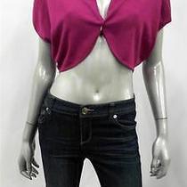 Grace Elements Open Front Misses Womens Knit Shrug Sweater Sz S Purple Wine Sale Photo